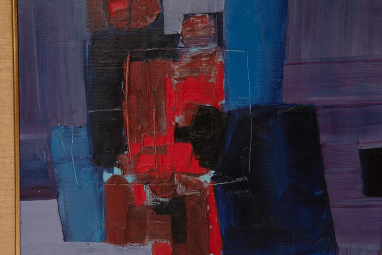Painted Takase Yasue Abstract Expressionist Painting For Sale