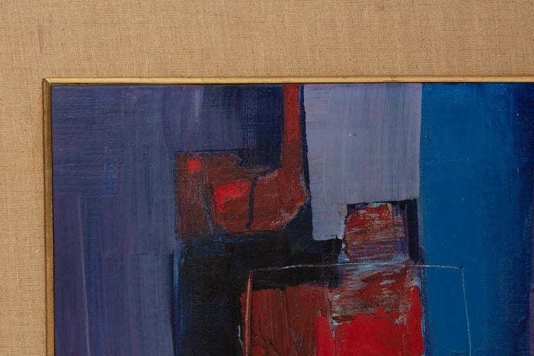 Takase Yasue Abstract Expressionist Painting In Good Condition For Sale In Phoenix, AZ