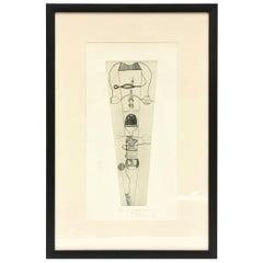 """Takashi Matsutani Japanese Etching Titled """"La Propagation"""""""