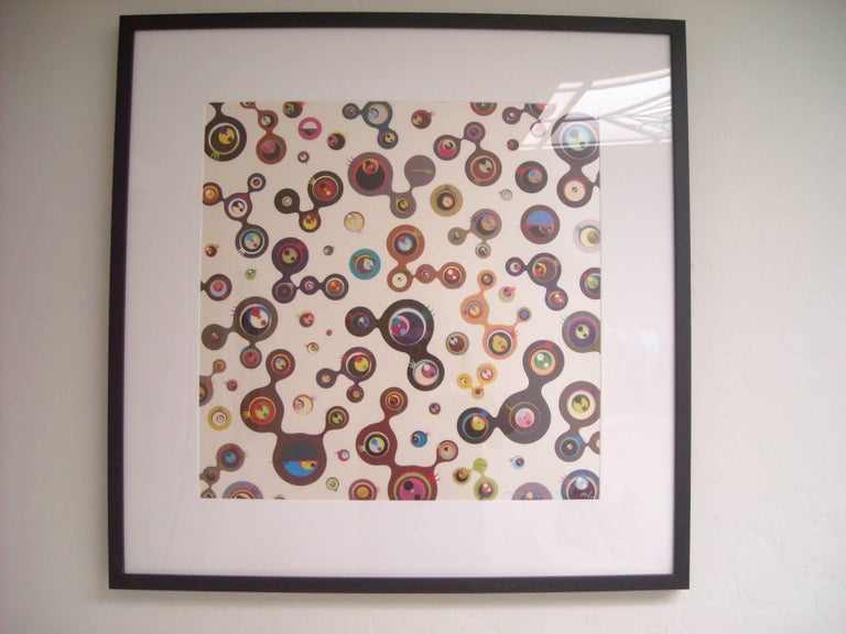 Japanese Takashi Murakami, Jellyfish Eyes-White, Lithograph, Signed For Sale
