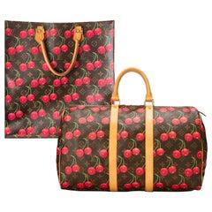 Takashi Murakami Louis Vuitton Cherry Monogram Sac Plat Tote & Keepall Bags 2005
