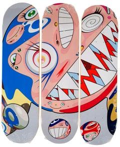 Takashi Murakami DOB Skateboard Decks (Set of 3 Takashi Murakami skate decks)