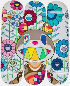 Takashi Murakami Flowers Skateboard Decks (Murakami set of 3 skate decks)