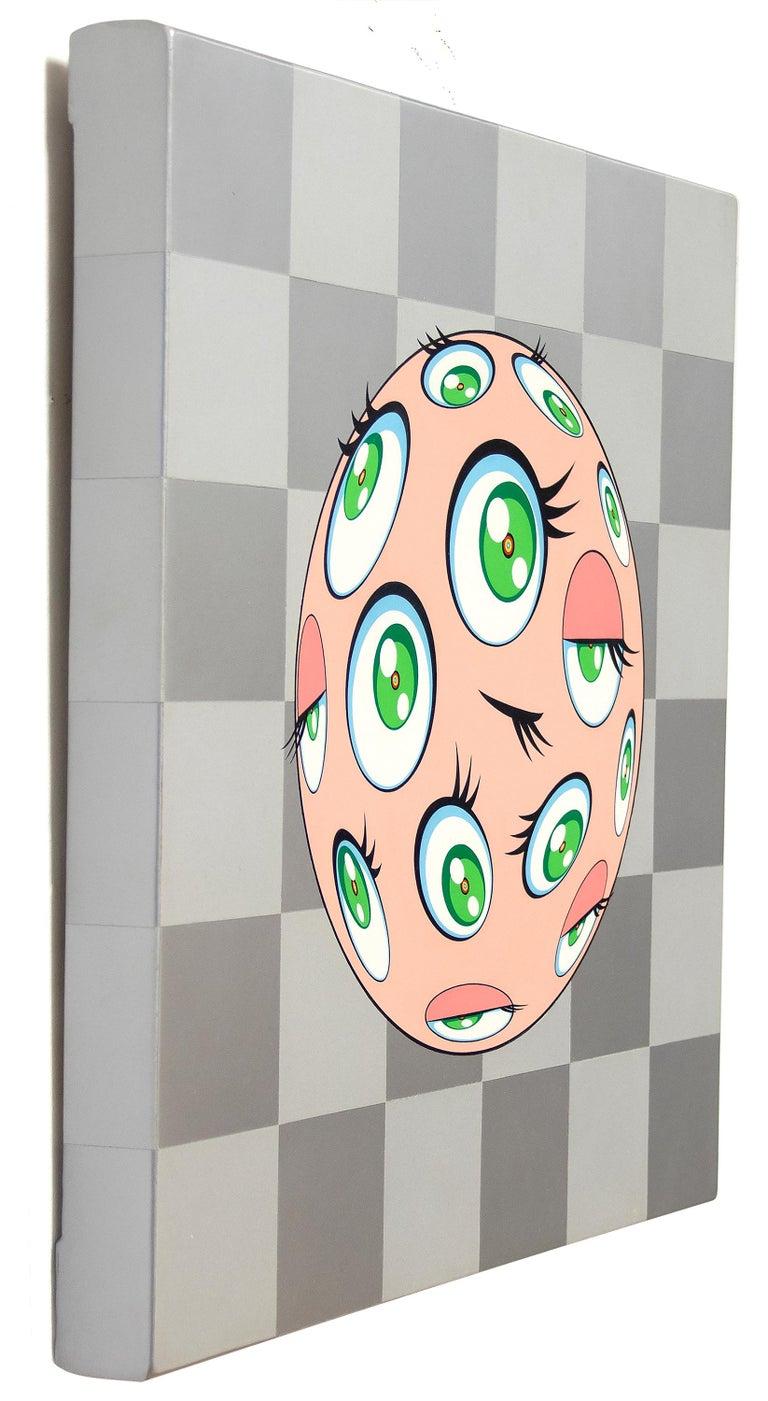 Eye Ball Pink - Painting by Takashi Murakami