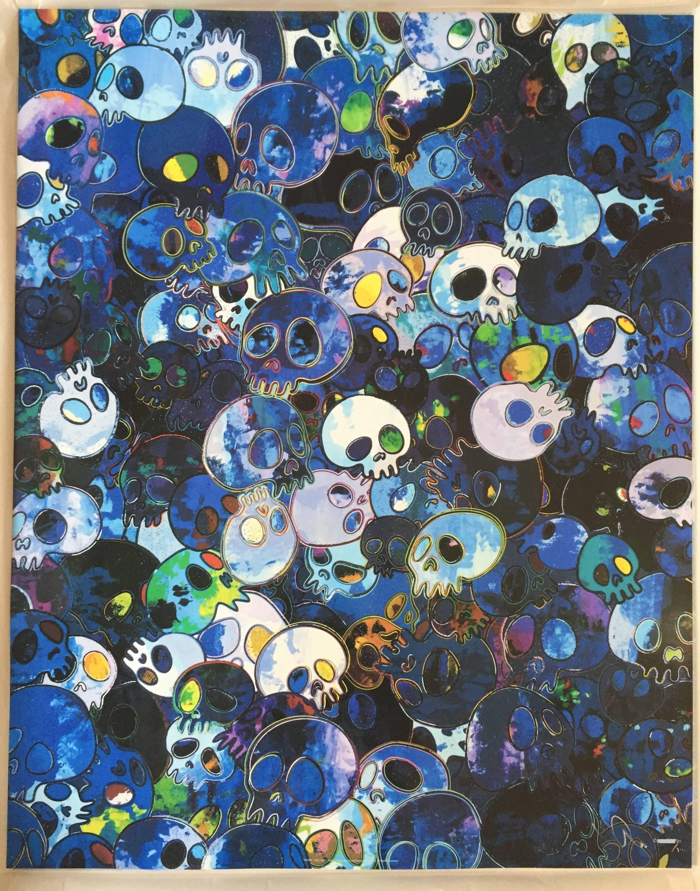 Takashi Murakami - Blue Skulls offset print - framing complimentary ...