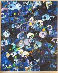 Blue Skulls offset print - MCBST, 1959 - 2011 - framing complimentary