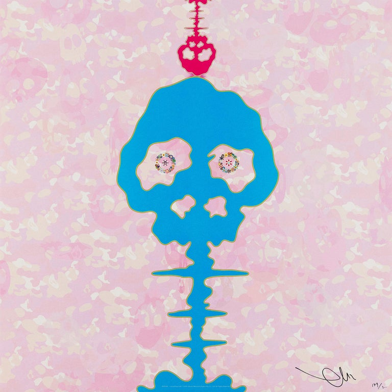 Bokan  - camouflage pink, 2009 by Takashi Murakami Offset print, numbered and signed by the artist 19 11/16 × 19 11/16 in 50 × 50 cm Edition  39/300  About the Artist: Takashi Murakami is best known for his contemporary combination of fine art and