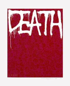 Death: Pink Silkscreen (Edition: 100) by Takashi Murakami