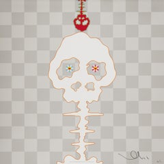 Dokuro (silver). Limited Edition (print) by Takashi Murakami signed, numbered