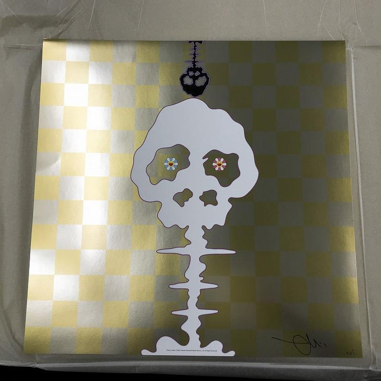 Dokuro (yellow). Limited Edition (print) by Takashi Murakami signed, numbered For Sale 1