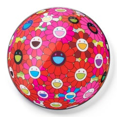 "Flower Ball 3D Red Pink Blue (""Paint it Red"" project)"