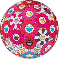 Flowerball (3D) - Turn Red! Limited Edition (print) Murakami signed and numbered