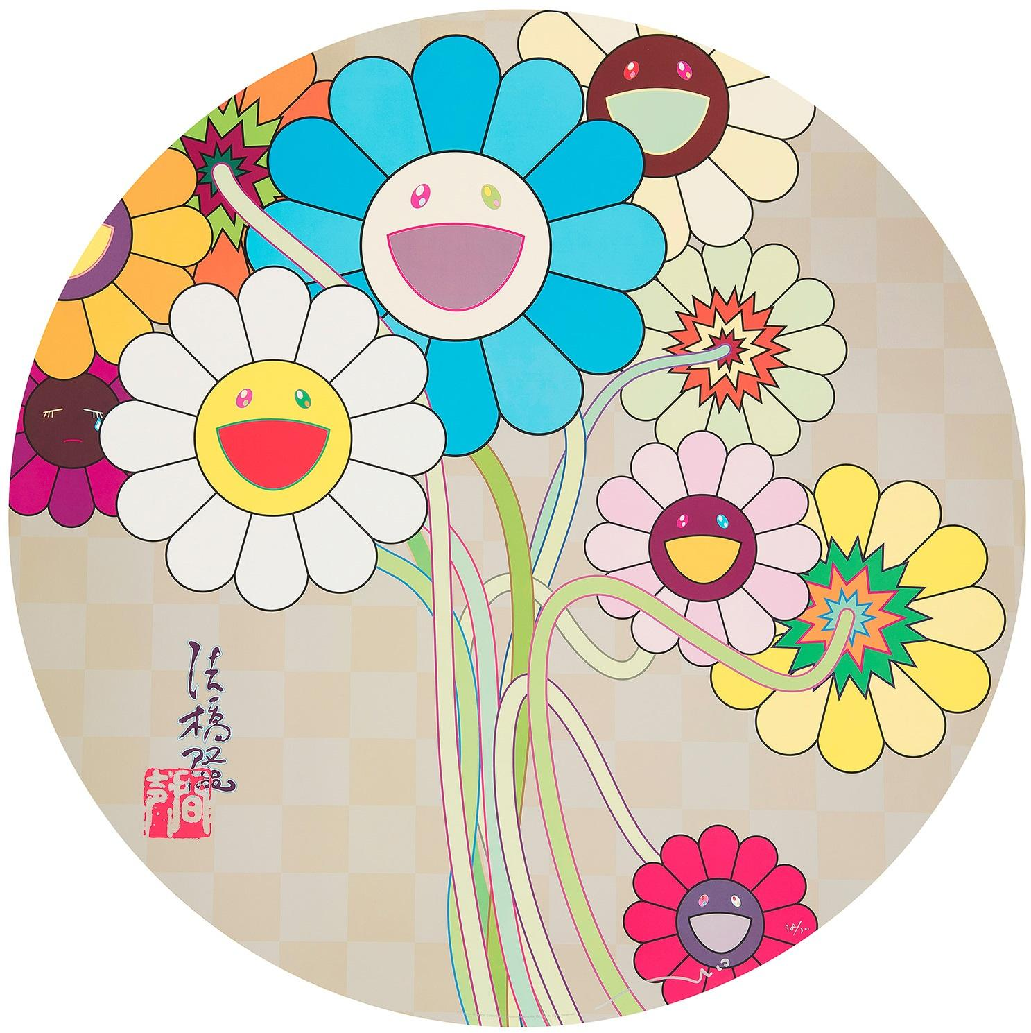 Flowers for Algernon. Limited Edition (print) by Takashi Murakami signed