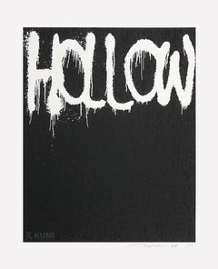 Hollow: Black Silkscreen (Edition: 100) by Takashi Murakami