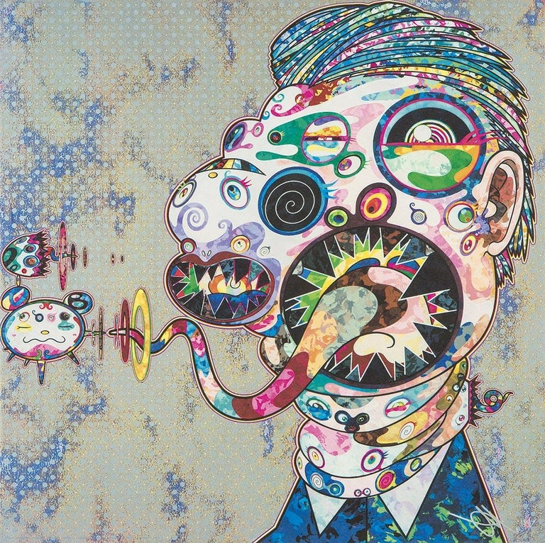 Homage to Francis Bacon. Limited Edition (2 prints) by Takashi Murakami, signed For Sale 2