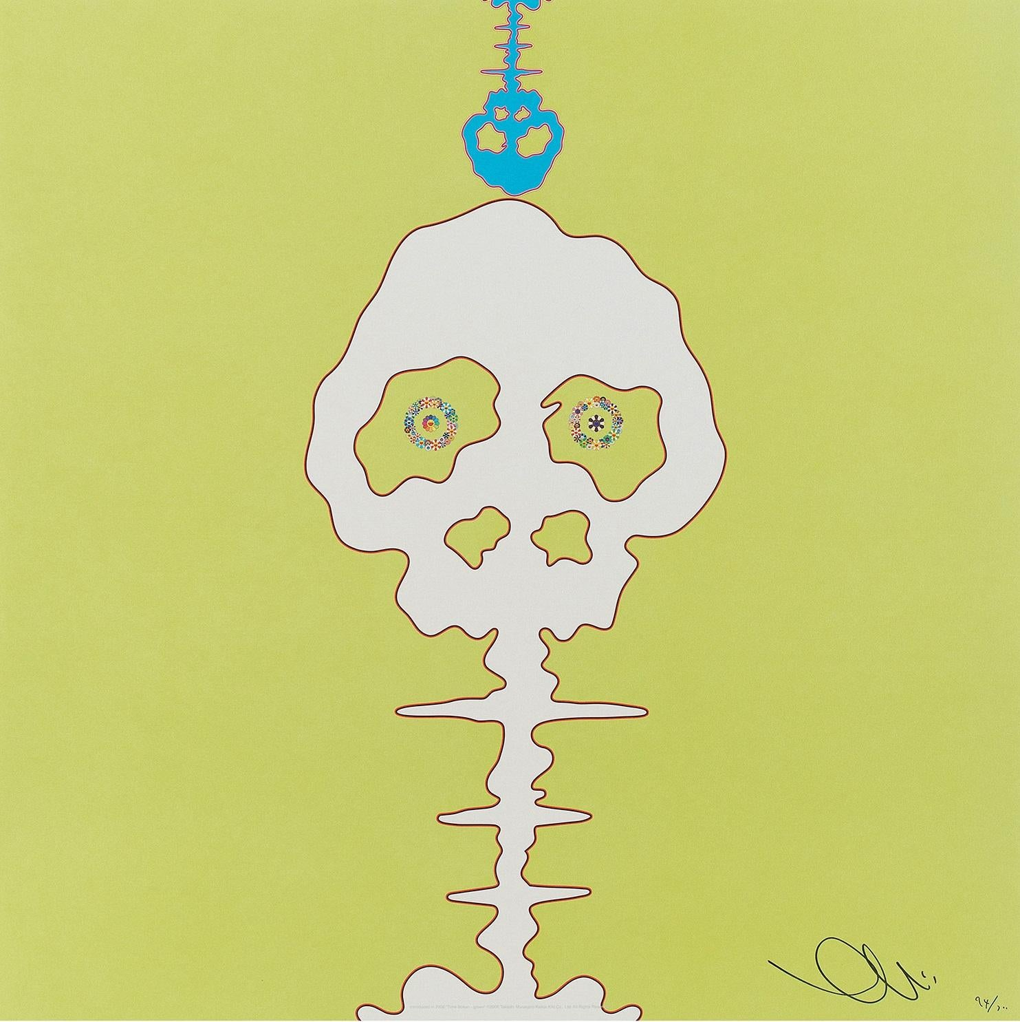 Introduced in 2006 Time Bokan Green. Limited Edition (print) by Murakami signed