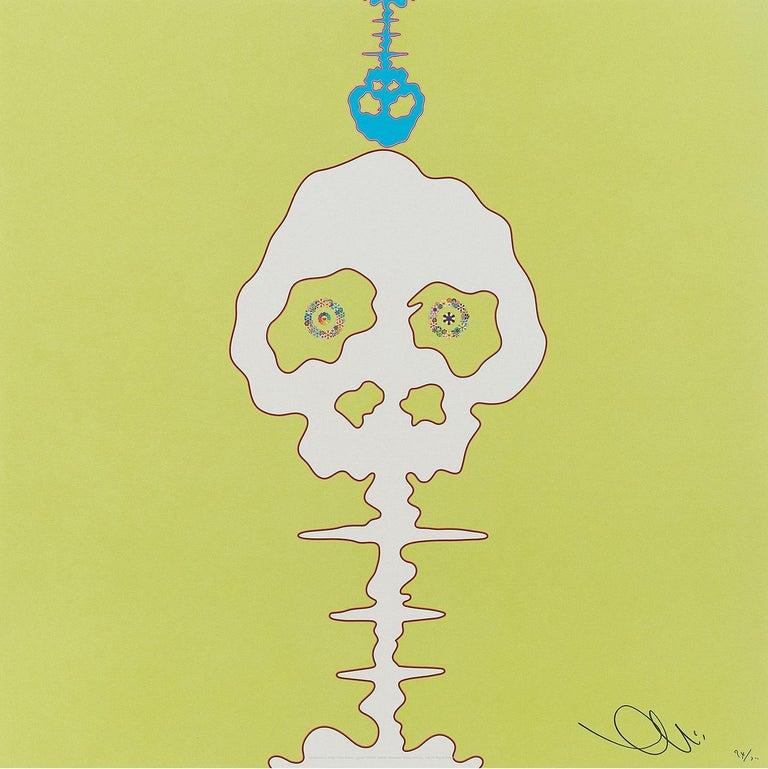 Takashi Murakami Figurative Print - Introduced in 2006 Time Bokan Green. Limited Edition (print) by Murakami signed