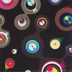 Jellyfish Eyes - Black 2. Limited Edition (print) by Takashi Murakami signed