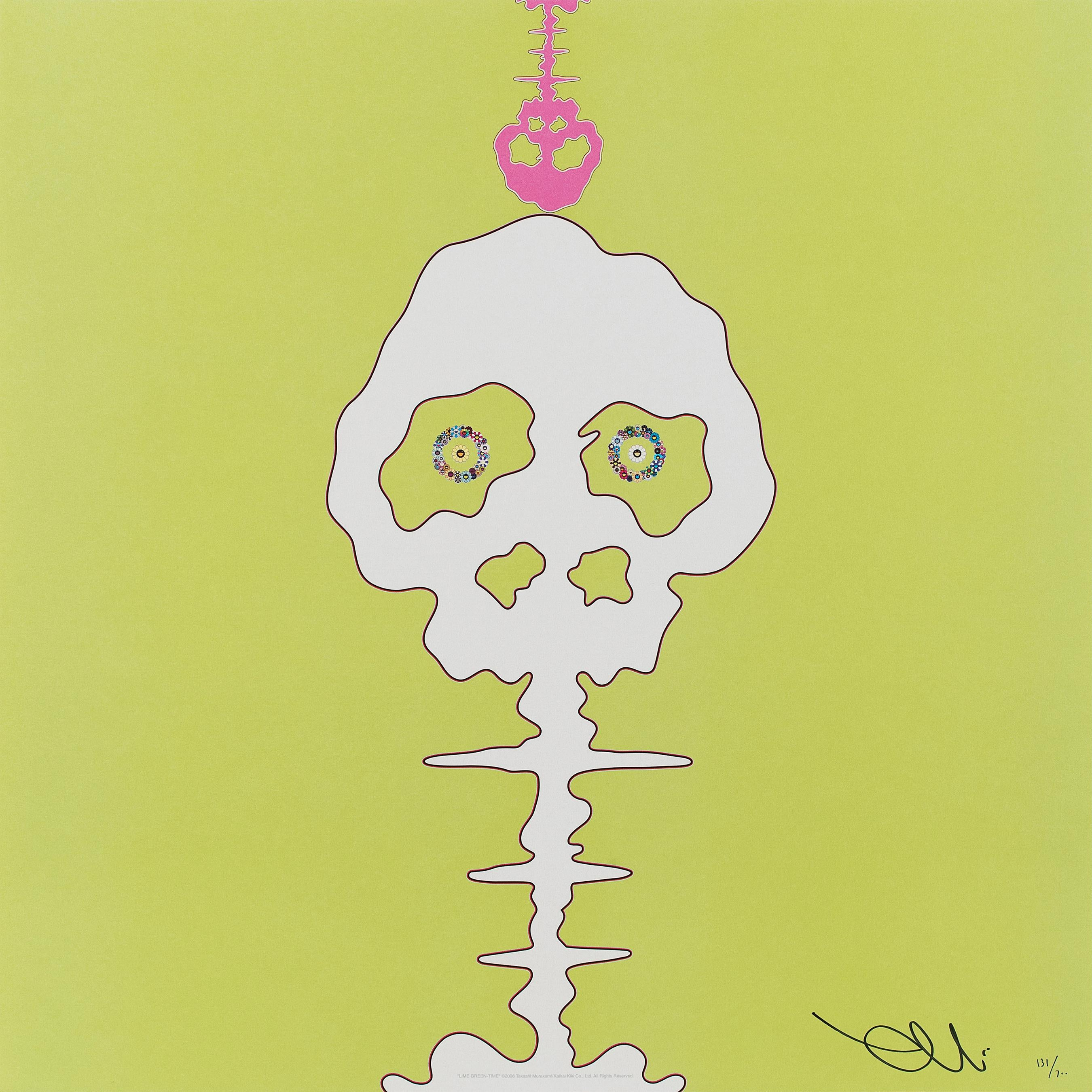 Lime Green - Time (Time Bokan) 2011 Limited Edition (print) by Murakami signed