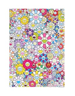 Murakami Champagne Supernova: Multicolor Pink & White Stripes (2013) - unframed