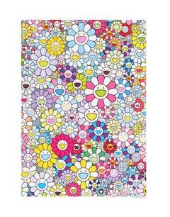 Murakami Champagne Supernova: Multicolor Pink & White Stripes (2018) - unframed