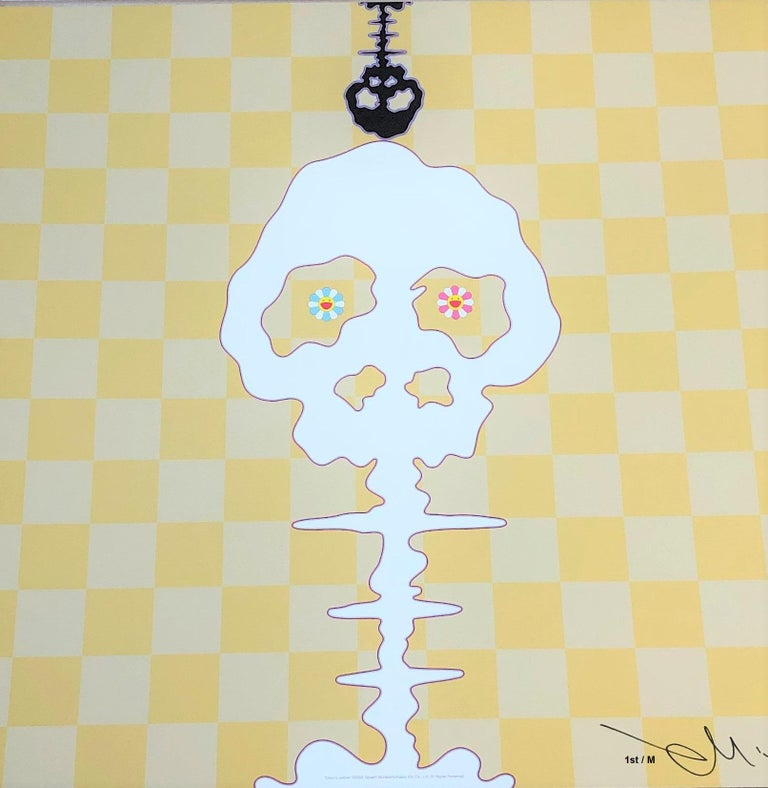 This is an original Murakami offset lithograph, signed and numbered out of an edition of 300. Certificate of authenticity is provided by gallery and buyer protection by 1stdibs and gallery. This is the iconic skull imagery by Murakami. Images shown