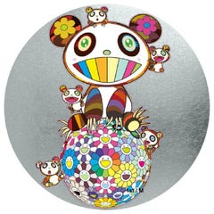 Murakami Panda with Panda cubs on Flower Ball