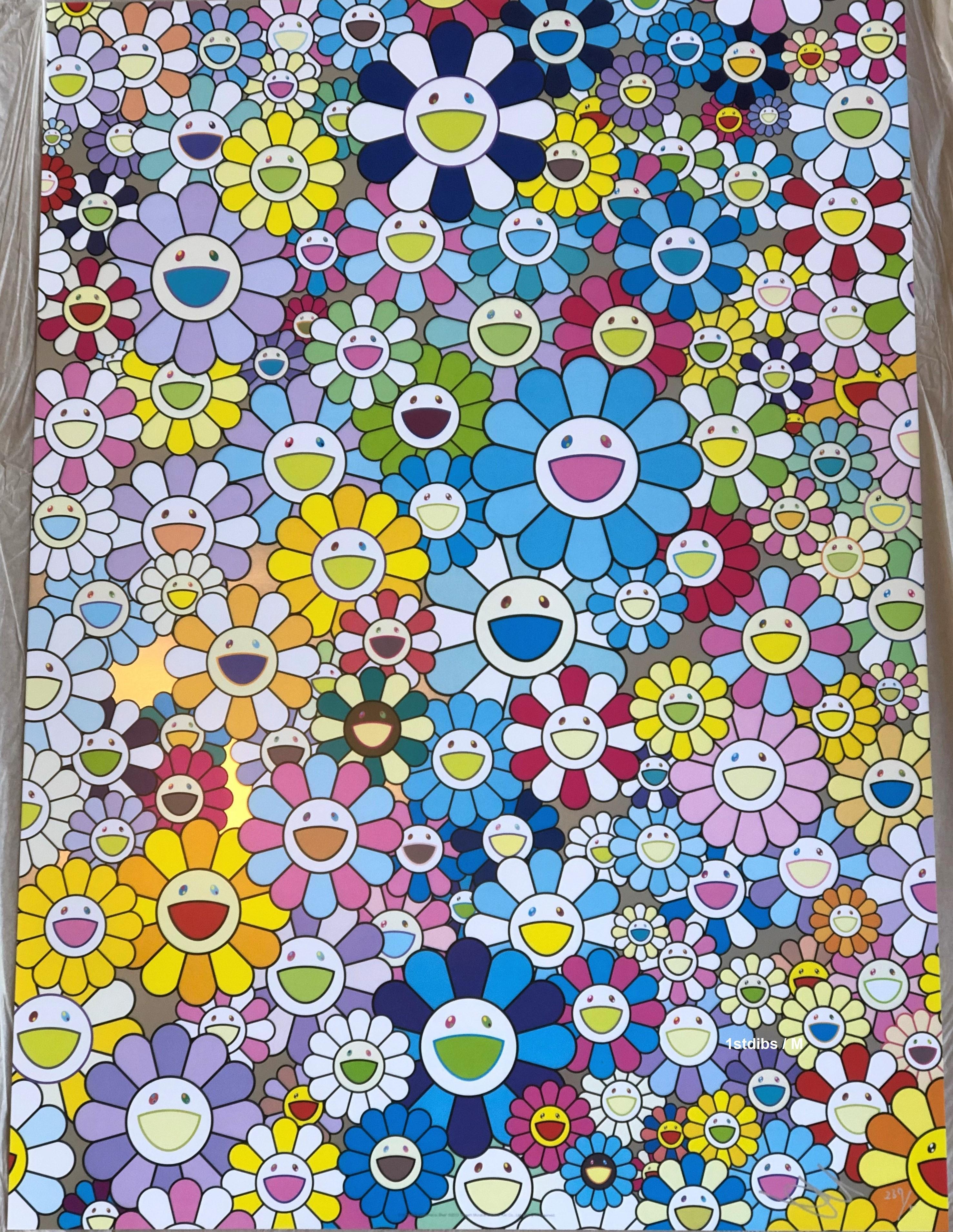 Murakami print - Champagne Supernova Blue (2013)