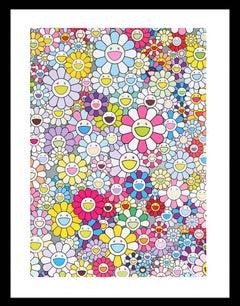 Murakami print - Champagne Supernova: Multicolor Pink and White Stripes (2018)