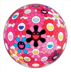 Murakami print  - Pink Flower Ball 3D - There is Nothing Eternal in This World..
