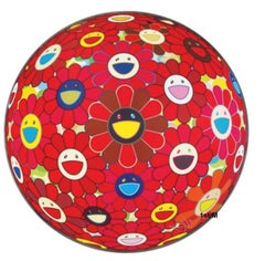 Murakami - Red Flower Ball (3D) - unframed