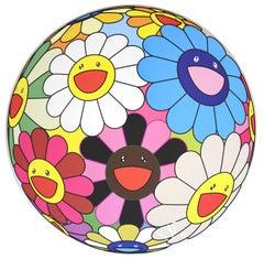 MURAKAMI Takashi, Flower Ball (algae blue), 2013