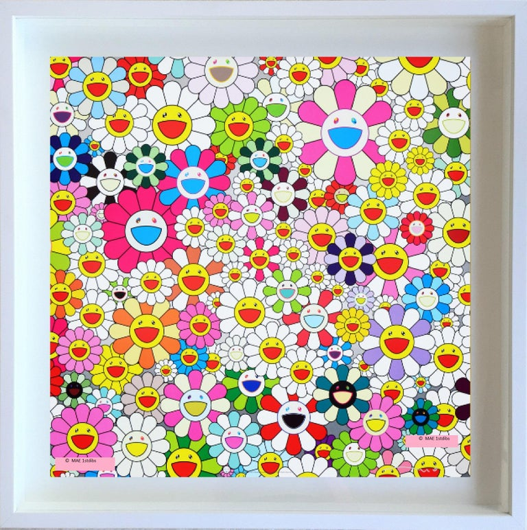 """Takashi Murakami Abstract Print - Offset Print - """"Maiden in Yellow Straw Hat"""",  last one - framing upon request"""