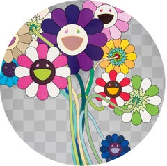 Purple Flowers in a Bouquet Limited Edition (print) by Murakami signed, numbered