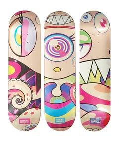 Set of 3 Takashi Murakami DOB Skateboard Decks