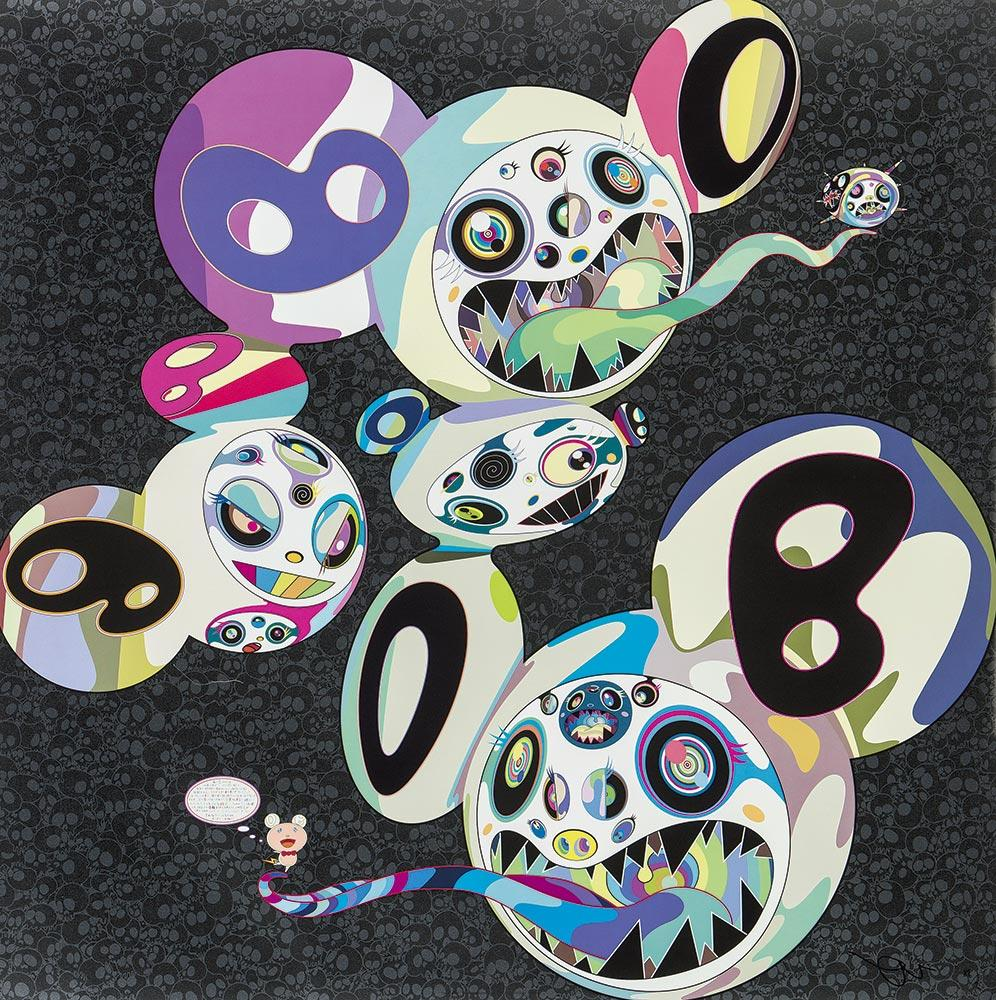 Spiral (2014). Limited Edition (print) by Murakami signed, numbered