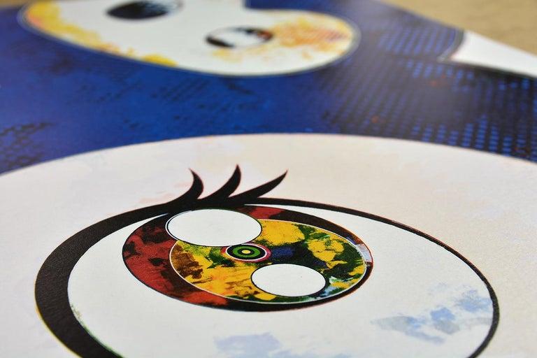 TAKASHI MURAKAMI: And Then x6 (Blue) Hand signed & numb. Superflat, Pop Art - Gray Figurative Print by Takashi Murakami
