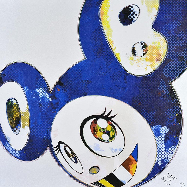 Takashi Murakami Figurative Print - TAKASHI MURAKAMI: And Then x6 (Blue) Hand signed & numb. Superflat, Pop Art