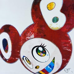 TAKASHI MURAKAMI: And Then x6 (Red Dots) Hand signed & numb. Superflat, Pop Art