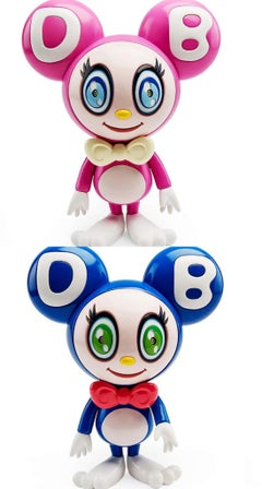 Takashi Murakami DOB-kun: set of 2 (Murakami dark blue & fuschaDOB-kun)