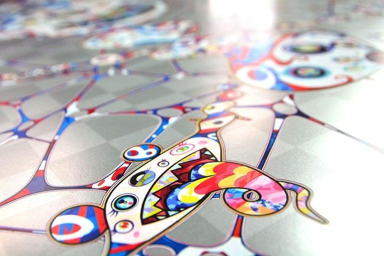 TAKASHI MURAKAMI: DOB: Myxomycete - Superflat, Japanese Pop Art - Gray Figurative Print by Takashi Murakami