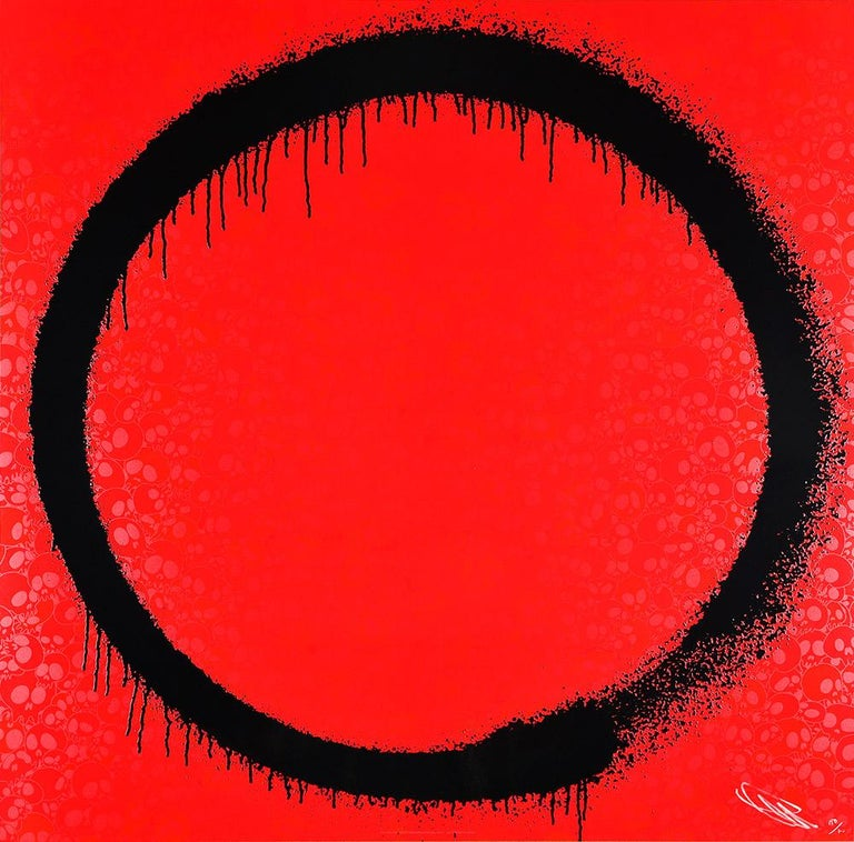 Takashi Murakami Figurative Print - TAKASHI MURAKAMI: Enso The Heart - Hand signed & numbered Superflat, Pop Art