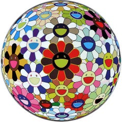 TAKASHI MURAKAMI: Flower Ball: Lots of Colors. Hand signed. Superflat, Pop Art