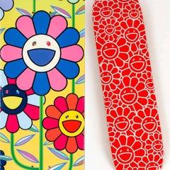 Takashi Murakami Flowers skateboard decks: set of 2 (Takashi Murakami skate)