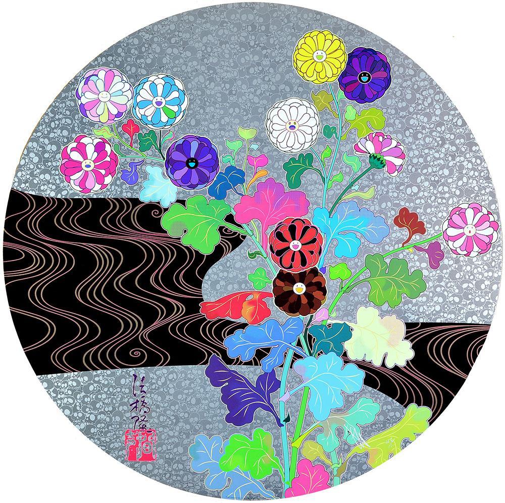 TAKASHI MURAKAMI: Korin: Tranquility Hand signed & numbered Superflat, Pop Art