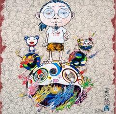 TAKASHI MURAKAMI: Obliterate the... Hand signed & numbered. Superflat, Pop Art