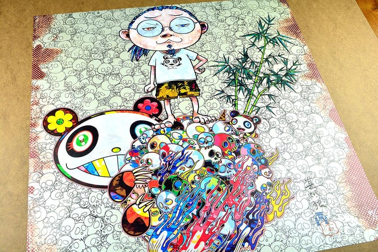 TAKASHI MURAKAMI: Panda Family and Me Hand signed & numbered. Superflat, Pop Art - Print by Takashi Murakami