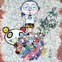 TAKASHI MURAKAMI: Panda Family and Me Hand signed & numbered. Superflat, Pop Art