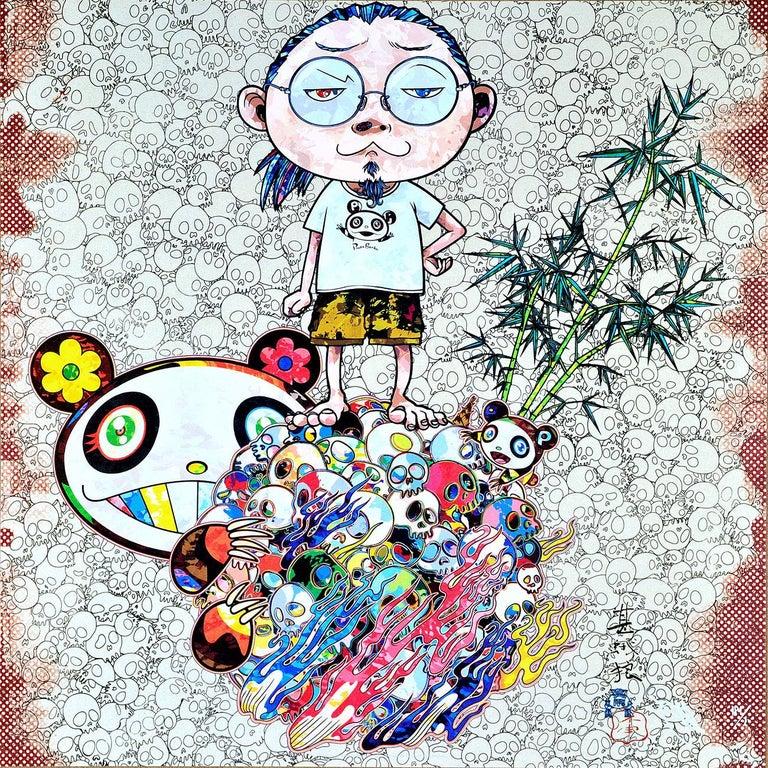 Takashi Murakami Figurative Print - TAKASHI MURAKAMI: Panda Family and Me Hand signed & numbered. Superflat, Pop Art
