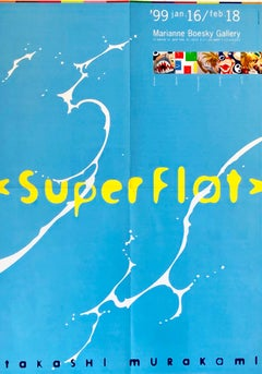 Takashi Murakami 'Superflat' exhibition poster (vintage Takashi Murakami)